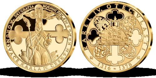 Pamětní medaile Korunovace Karla IV. českým králem