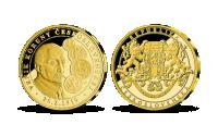 Vznik československé koruny zušlechtěno 24karátovým zlatem