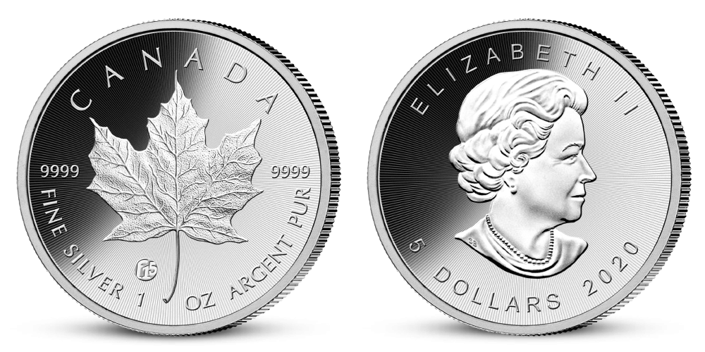 Stříbrná mince Javorový list 2020