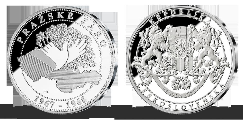 100. výročí vzniku Československa v ryzím stříbře - Pražské jaro