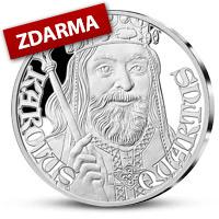 Stříbrná pamětní medaile vydaná k 700. výročí narození Karla IV. - již s druhou medailí ZDARMA