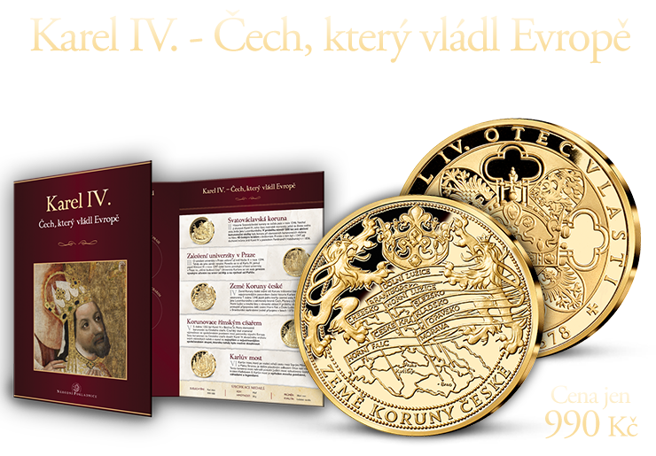 Život Karla IV. - ucelená sbírka pěti medailí
