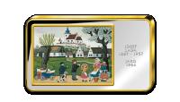 Josef Lada, Jaro - Kolorovaná medaile zušlechtěná ryzím zlatem