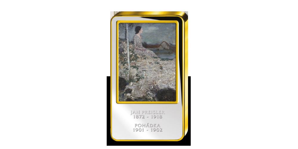 Jan Preisler, Pohádka - Kolorovaná medaile zušlechtěná ryzím zlatem