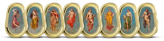 Ukázka dalších medailí z kolekce Múzy Národního divadla