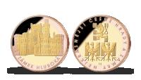 Pamětní medaile Hluboká nad Vltavou zušlechtěná růžovým a žlutým zlatem