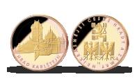 Pamětní medaile Karlštejn zušlechtěná růžovým a žlutým zlatem