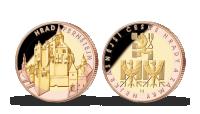 Pamětní medaile Pernštejn zušlechtěná růžovým a žlutým zlatem