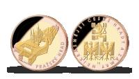 Pamětní medaile Pražský hrad zušlechtěná růžovým a žlutým zlatem