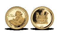 Ludwig van Beethoven - hudební génius na minci z 24karátového zlata