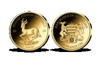 Krugerrand - mince v ryzím zlatě 999/1000