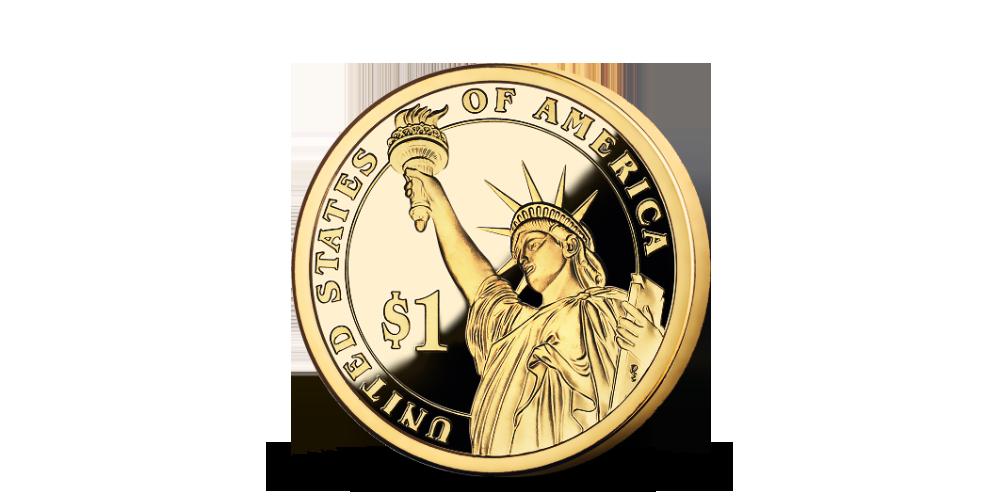 Prezidenstské dolary - společný avers