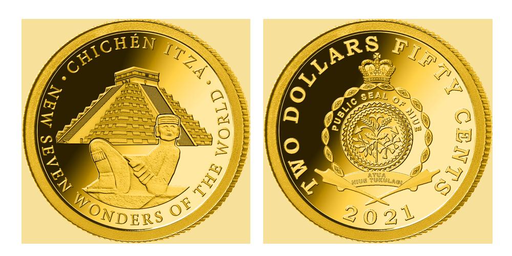 Zlatá mince Chichen Itza