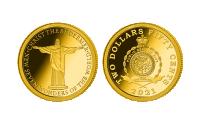 Zlatá mince Socha Krista Spasitele