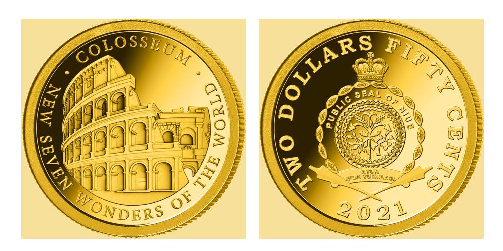 Zlatá mince Koloseum