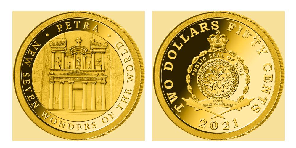 Zlatá mince Petra