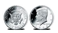 Stříbrná mince J. F. Kennedy z kolekce Americké stříbrné dolary