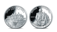 Stříbrná mince G. Washington z kolekce Americké stříbrné dolary