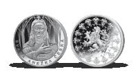 Stříbrné pamětní medaile největší osobnosti českého národa - sv. Anežka Česká