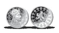 Stříbrné pamětní medaile největší osobnosti českého národa - Karel IV.