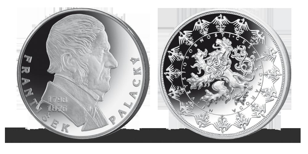 Stříbrné pamětní medaile největší osobnosti českého národa - František Palacký