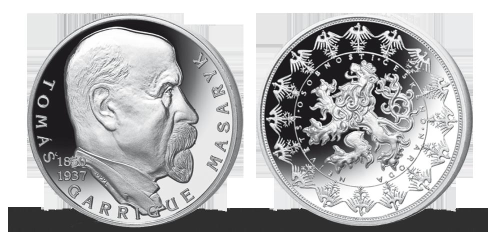 Stříbrné pamětní medaile největší osobnosti českého národa - T. G. Masaryk