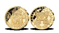 Život Karla IV. na pamětních medailích zušlechtěných ryzím zlatem