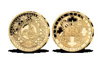 Život Karla IV. na pamětních medailích zušlechtěných ryzím zlatem - Vinařství za Karla IV.