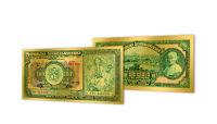 Zlaté československé bankovky - 100 Kčs