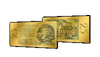 Zlaté československé bankovky - 25 Kčs