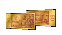 Zlaté československé bankovky - 50 Kčs