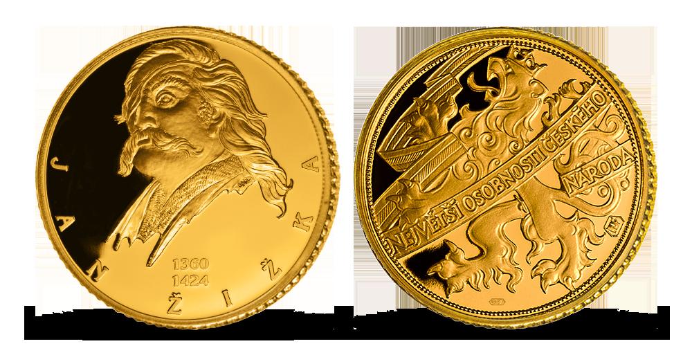 Zlatá pamětní medaile Jan Žižka