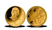 Zlatá pamětní medaile Jaroslav Heyrovsky