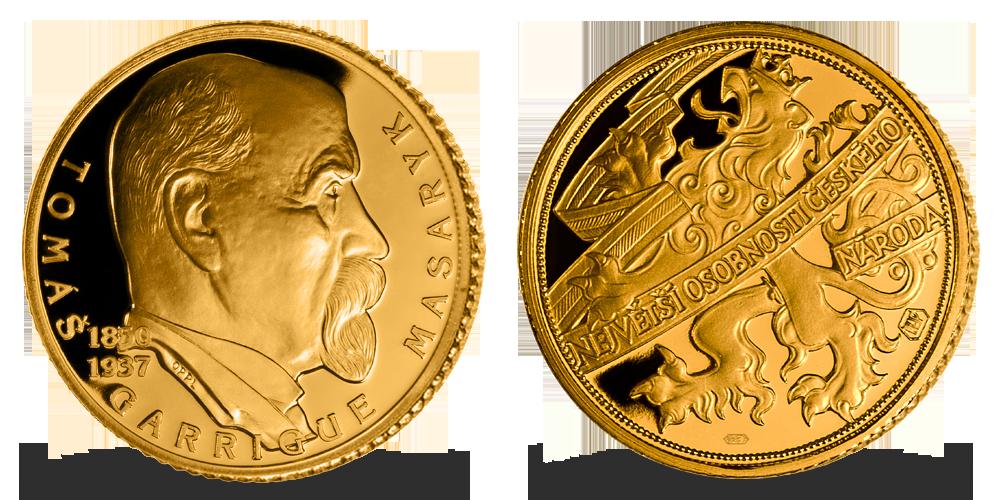 Zlatá pamětní medaile T. G. Masaryk z kolekce Zlaté osobnosti