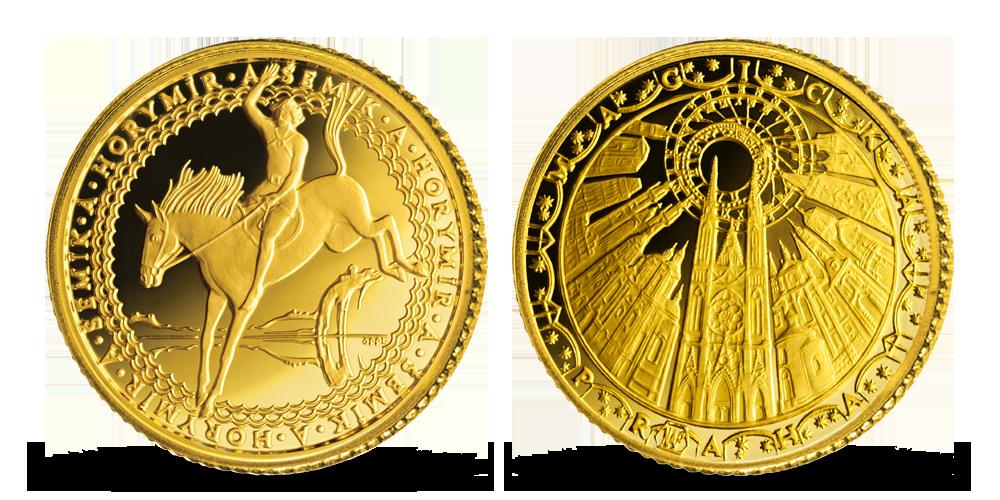 Zlatá pamětní medaile Horymír a Šemík