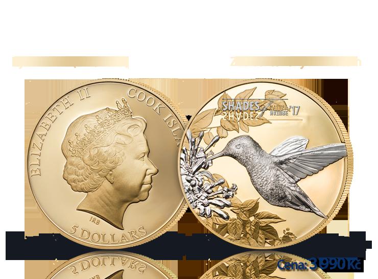 Dechberoucí detaily na minci z ryzího stříbra