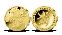 Alfons Mucha - sada pamětních medailí zušlechtěných ryzím zlatem - Lilie