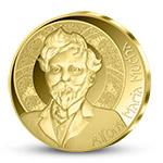 Pamětní medaile Alfons Mucha z ryzího zlata 999/1000