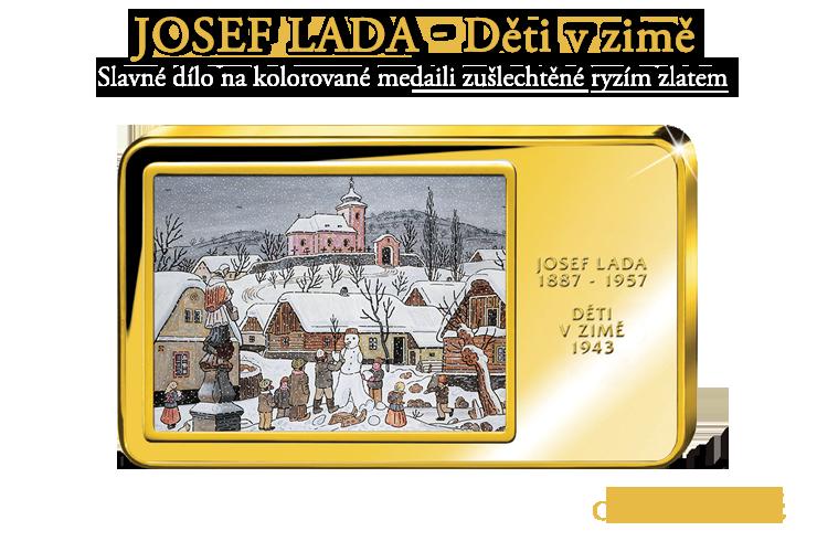 Josef Lada - Děti v zimě
