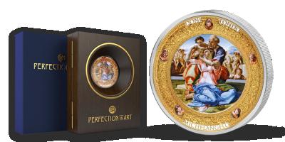 Stříbrná mince - Michelangelo: Svatá rodina, 2016