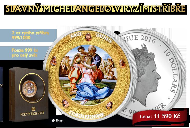 Slavný Michelangelo v ryzím stříbře