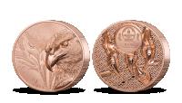 Majestátní orel na měděné minci
