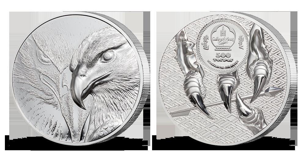 Majestátní orel na minci z 1 oz ryzího stříbra
