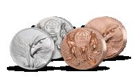 Majestátní orel na stříbrné a měděné minci