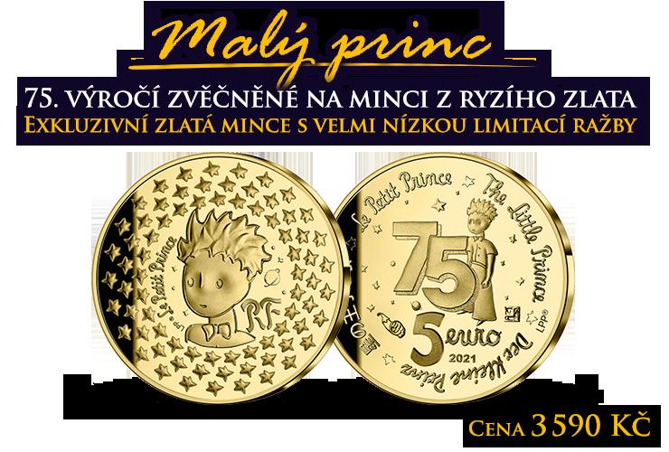 Výročí Malého prince zvěčněné ve zlatě