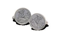 Stříbrné manžetové knoflíčky Sovereign