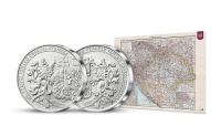 Pamětní medaile k 100. výročí založení Československa s číslováním a mapou
