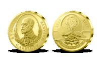 Pamětní medaile k 80. výročí úmrtí T. G. Masaryka zušlechtěna ryzím zlatem