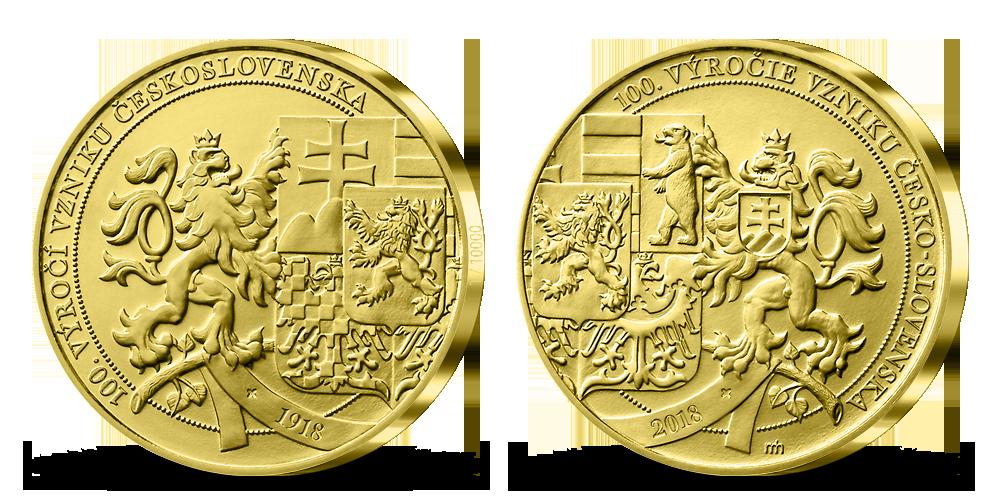Medaile k 100. výročí založení Československa