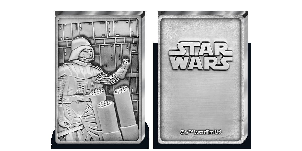 Oficiální medaile Star Wars, Darth Vader ve tvaru cihličky zušlechtěná ryzím stříbrem